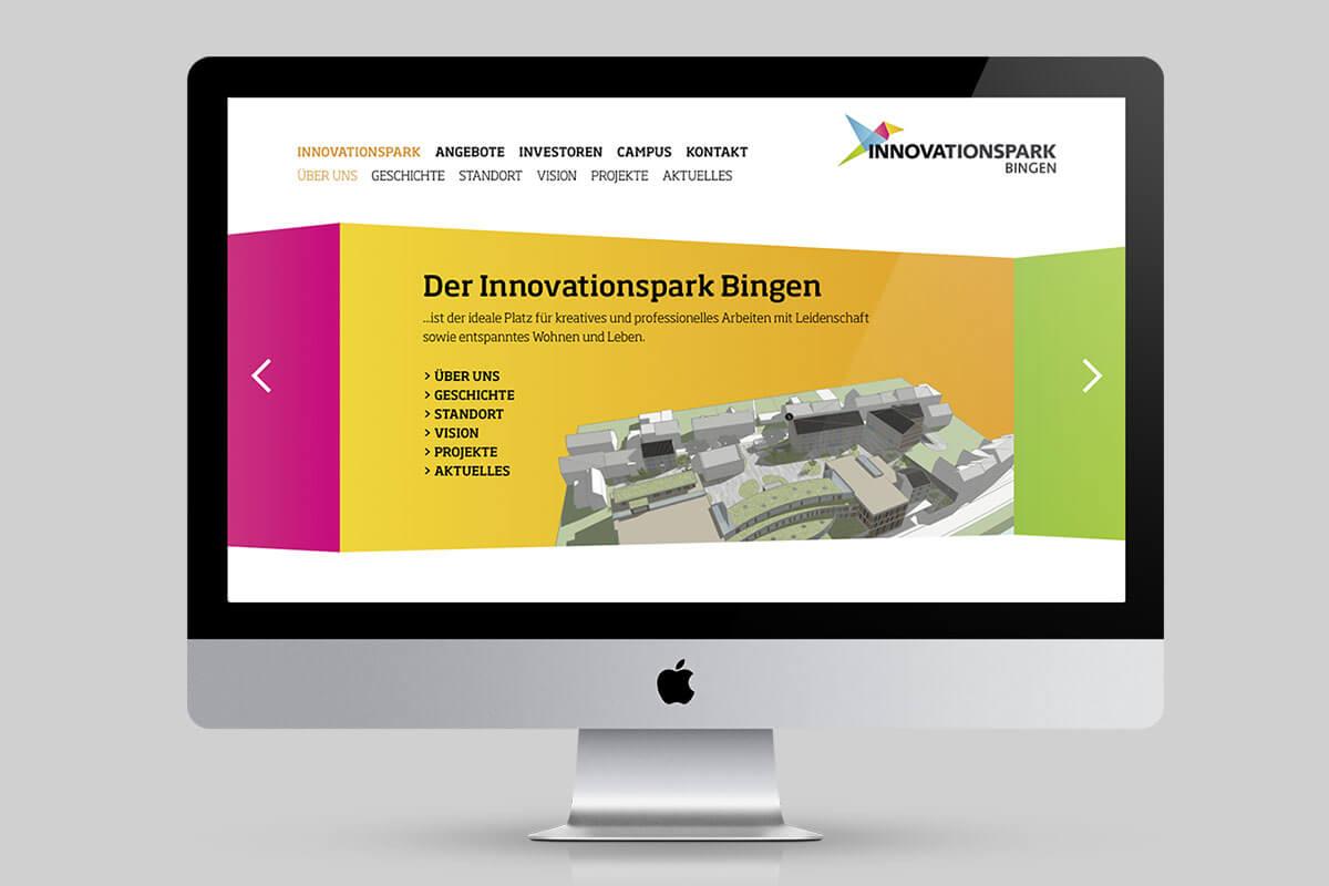 Website für neues Gründerzentrum
