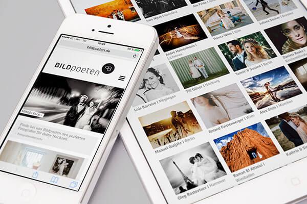 Webportal für Hochzeitsfotografie