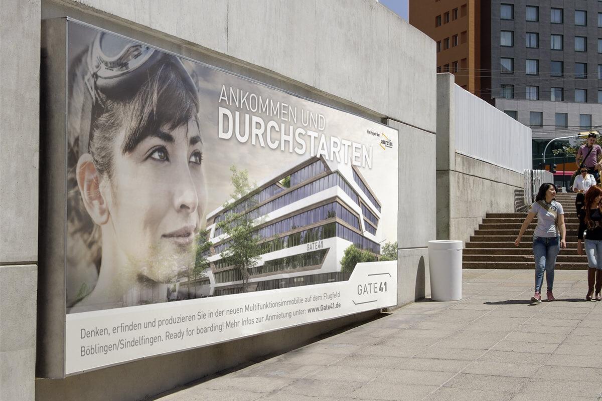 Kampagne für innovatives Immobilienprojekt