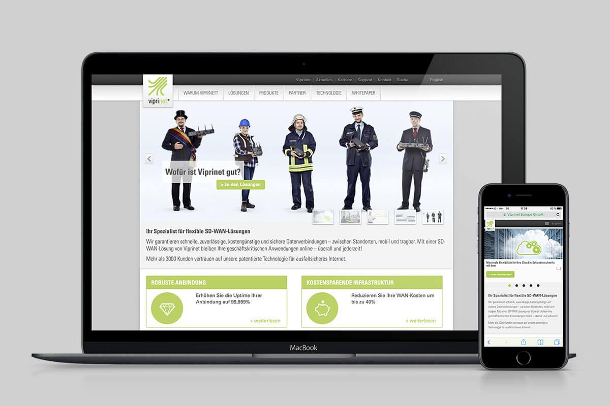 Website für Router-Spezialist