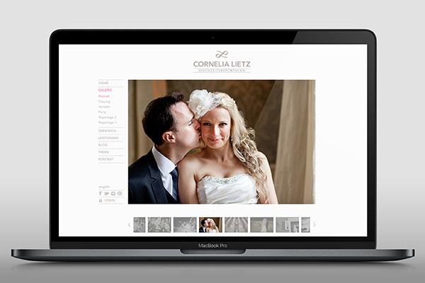 Logo und Website für Hochzeitsfotografin