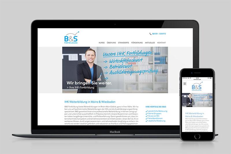 Website IHK Fortbildung Mainz